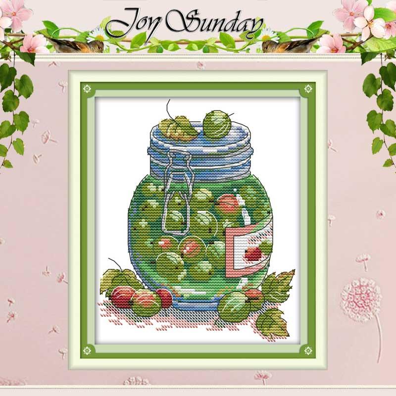 Набор для вышивки крестиком Juicy gooseberry, 11CT 14CT, оптовая продажа, Набор для вышивки крестиком из Китая