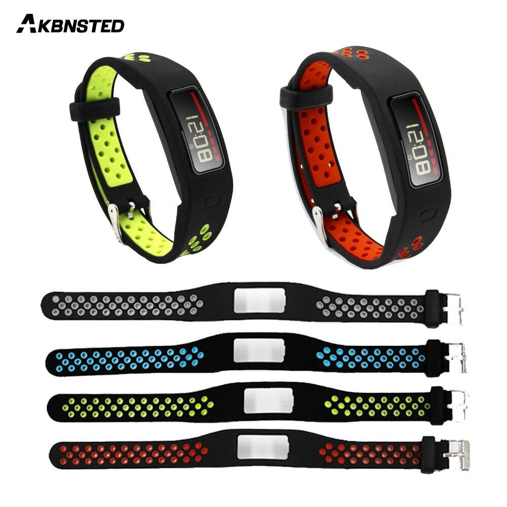 AKBNSTED de silicona suave correa de reloj de repuesto para Garmin Vivofit 1 de banda de reloj pulsera accesorios para Vivofit 1