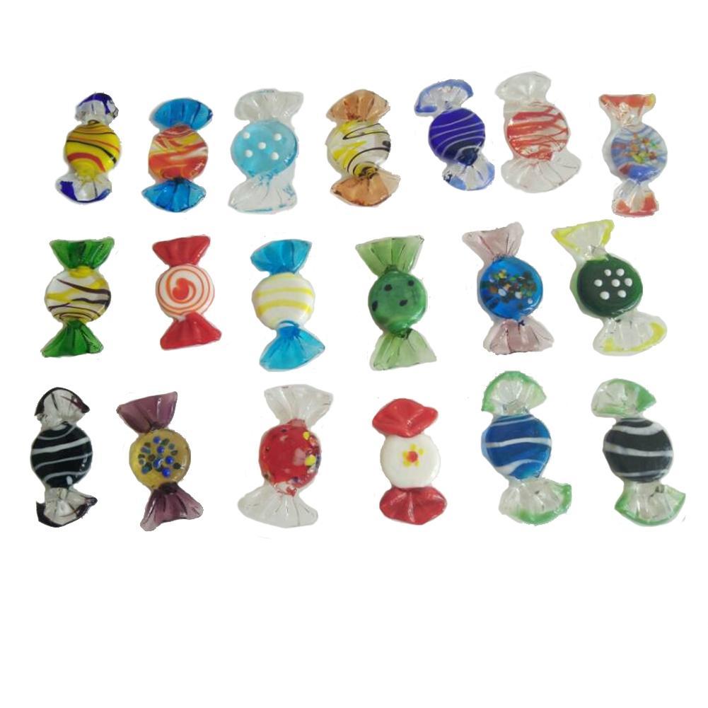 Dulces de cristal de Murano Vintage de 20 piezas LumiParty, dulces para boda, fiesta de Navidad, decoraciones para el hogar, regalo-25