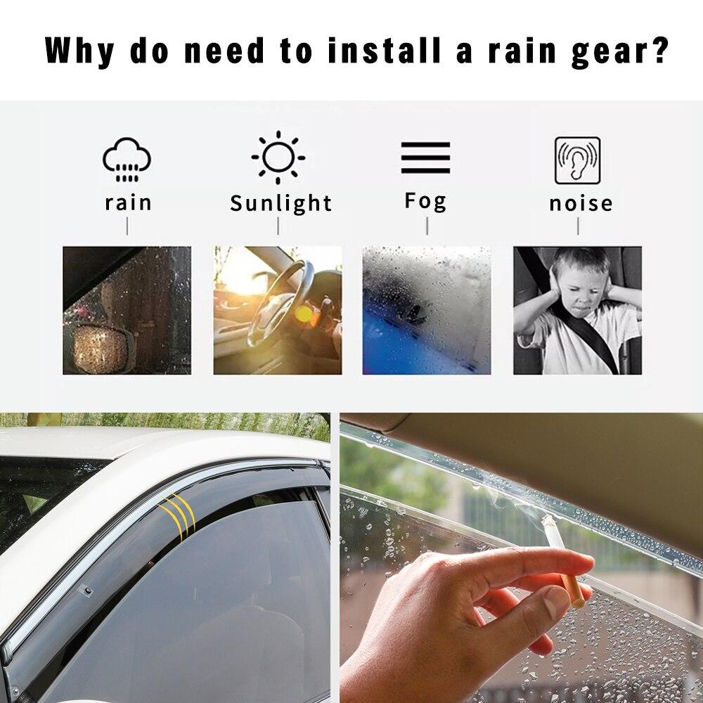 Para SUZUKI Swift Sedan 1994-2013 Smoke car window viseras protector de lluvia y sol deflectores ACCESORIOS 4PC