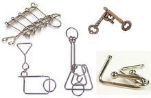 Puzzle de fil de métal magique IQ esprit casse-tête jeu de casse-tête pour adultes enfants