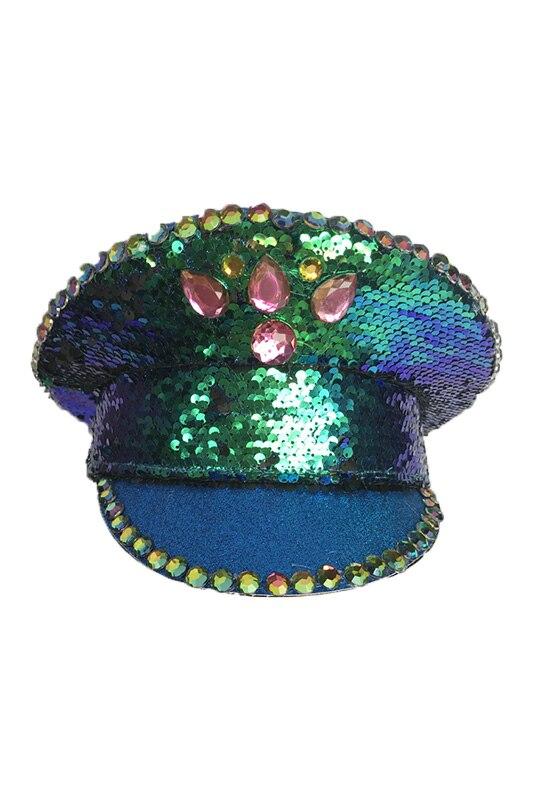 Britânico Cap Desempenho Fatia Brilhante Fase Cap Chapéu Remendo Chapéu Adulto Chapéu Vermelho Mulheres Verde Militar