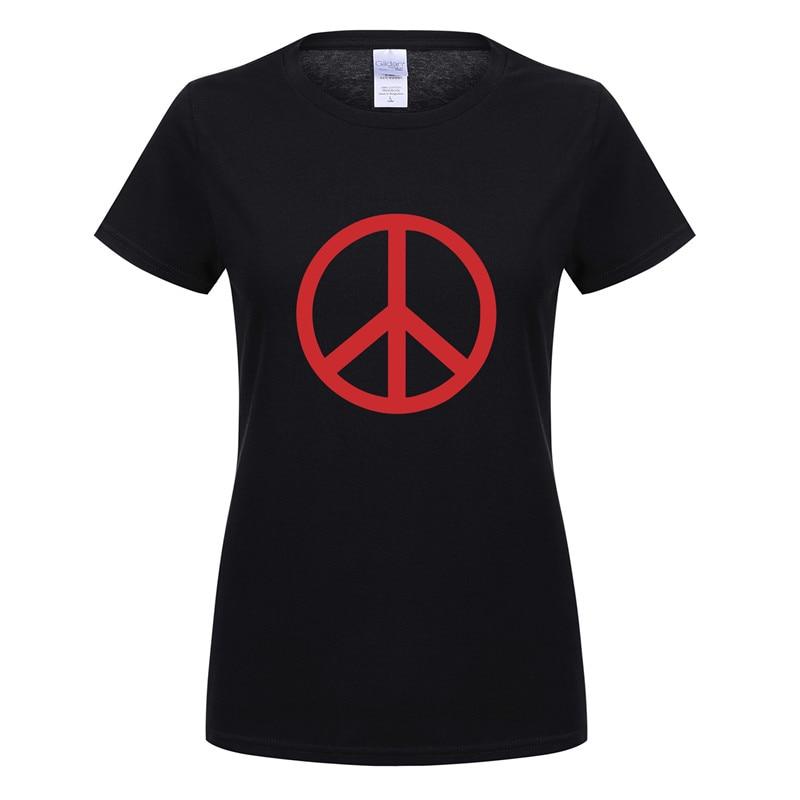 Camiseta de manga corta de algodón de manga corta sin camiseta de guerra para mujer OT-535