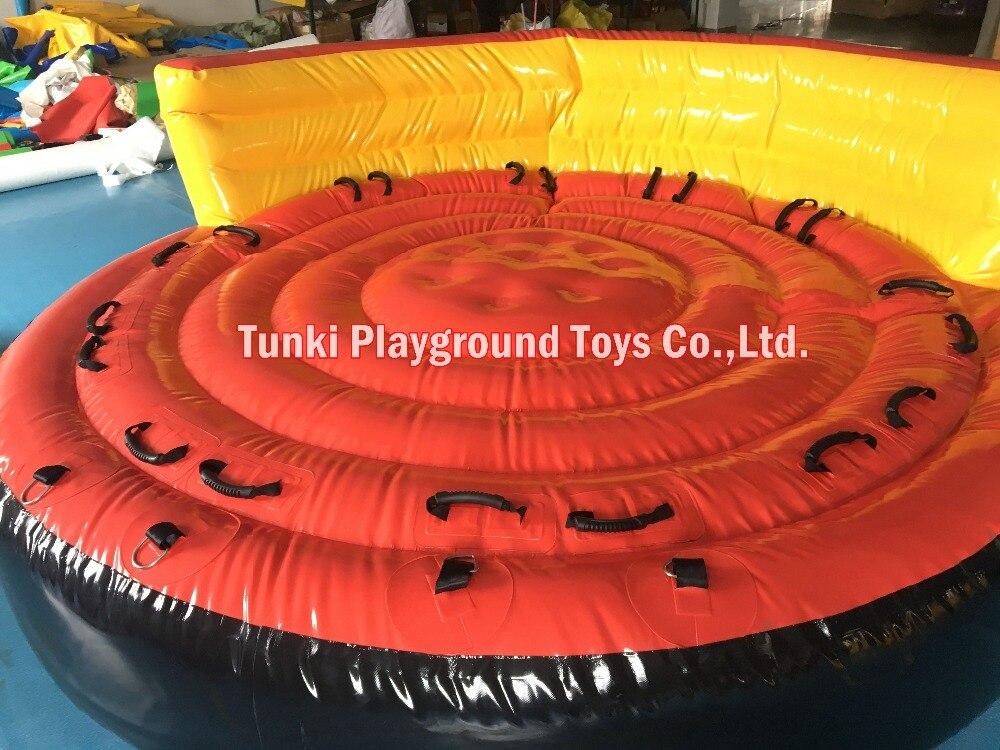 Esqui aquático rebocável inflável flutuante UFO louco sofá