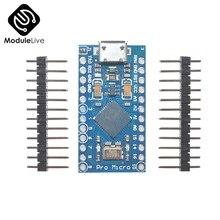 5 pièces Pro Micro pour Arduino ATmega32U4 contrôleur Micro USB 5V 16MHz atmega32U4 carte Module Repalce ATmega328 Pro Mini avec broche