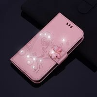 rhinestone glitter case for samsung galaxy a3 2016 a5 2017 a6 plus a7 a8 a9 2018 a9s note 9 8 5 leather diamond protector cover