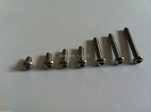 100pcs Metric Thread M3x10mm Stainless Steel Button Head Hex Socket Cap Screws Bolts