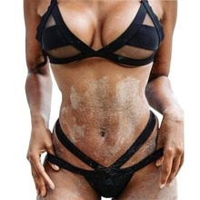 2019 femmes Sexy e Mesh Bikini ensemble dentelle évider hauts Bandage maillot de bain maillot de bain Sexy Mini String String
