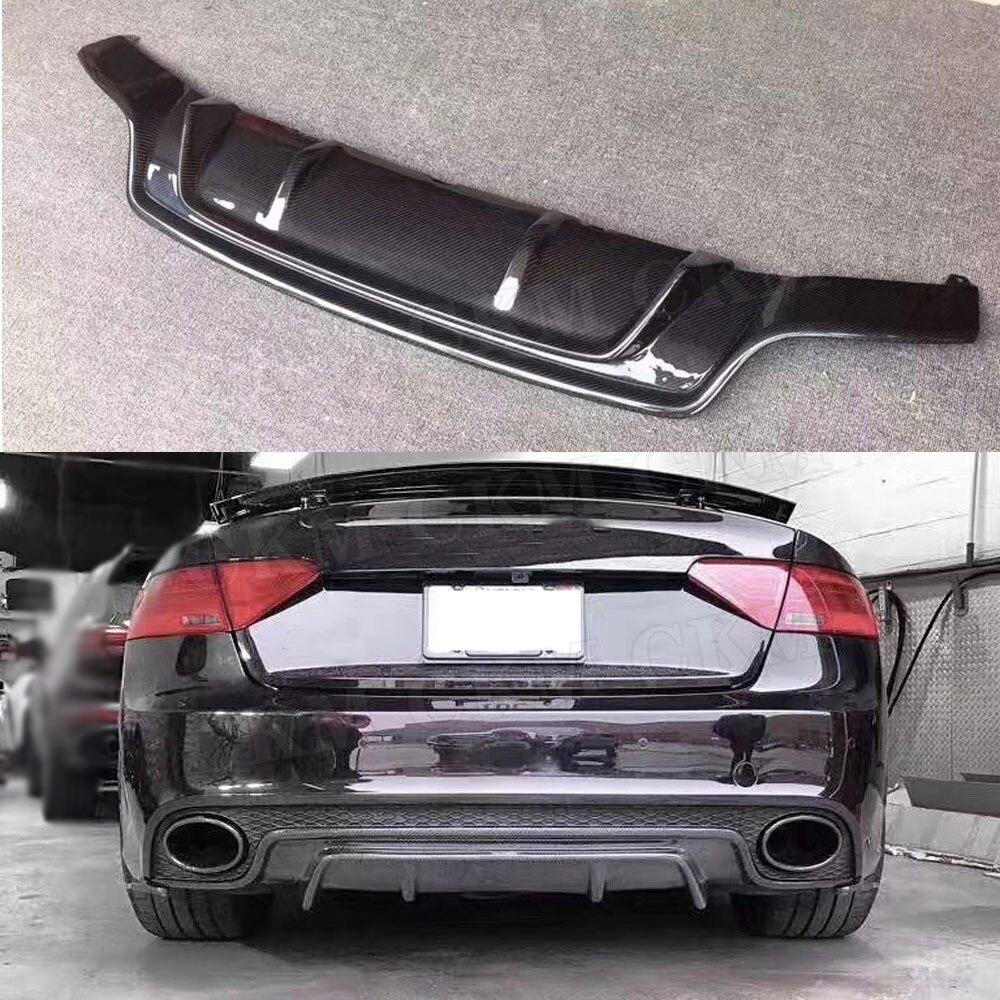 Difusor de labio de parachoques trasero de fibra de carbono para Audi A5 RS5 2015 no para A5 placa de deslizamiento estándar estilo de coche