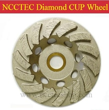 7'' Diamond floor grinding cup Wheels   180mm Concrete surface grind discs   silver welding 12 segments