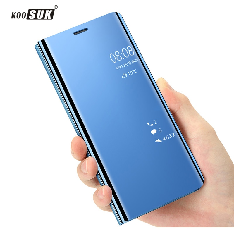 Funda para Samsung Galaxy S8 Plus con espejo de lujo y Funda de teléfono con tapa para Samsung S8 S8 + G9550 G9500