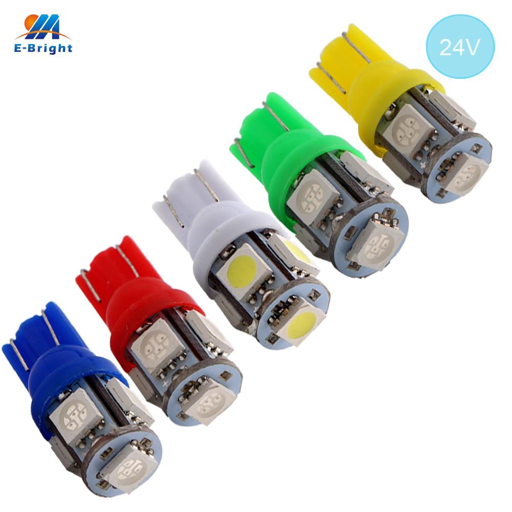 YM e-bright 10 Uds T10 5050 5 SMD 194 168 W5W 24V DC 5 LED Luz de liquidación lámpara wedge luz estilo de coche