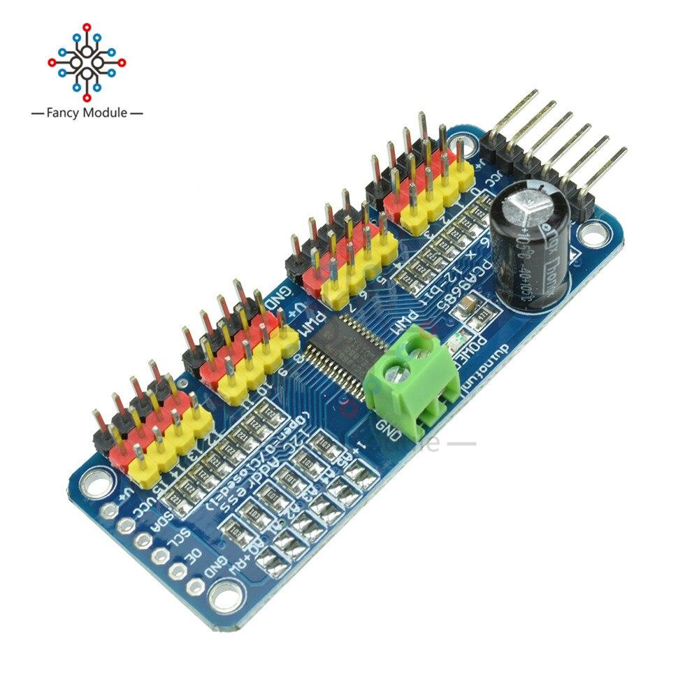 Модуль сервопривода I2C PCA9685 для Arduino Raspb