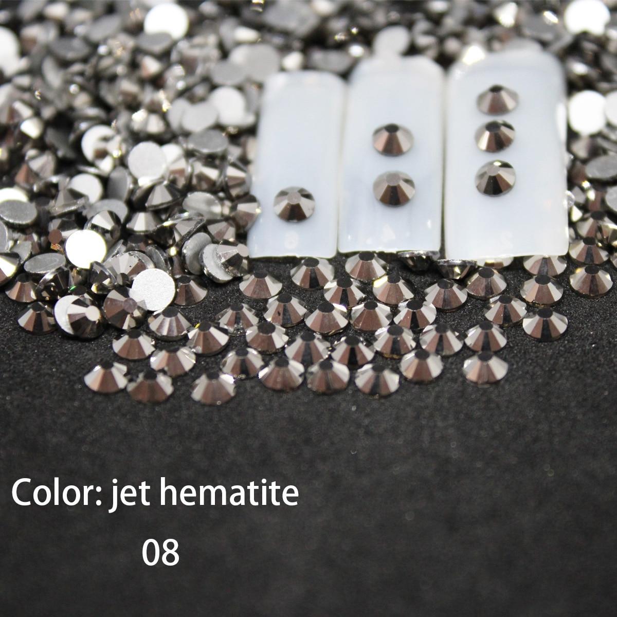 Nail gems SS12-SS30 Nail Art Decorations Rhinestones 3d nails art dekor Charm Glass Flatback accessoires nail diamonds jewelry