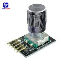 KY-040 модуль датчика поворотного переключателя с 15 × 16,5 мм Вращающаяся ручка потенциометра крышка для Arduino