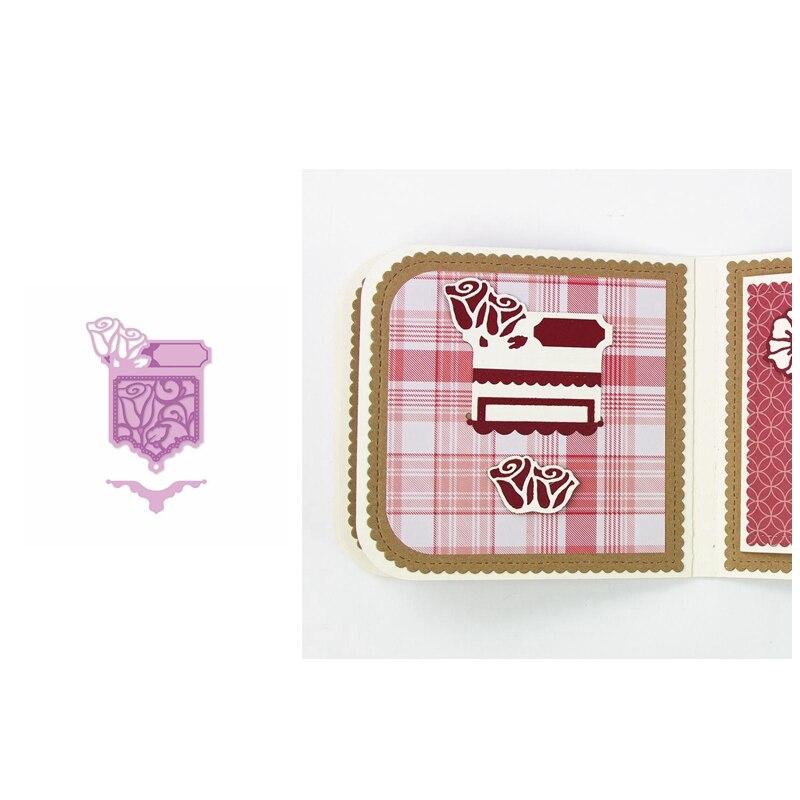Deslizador de bolsillo con forma de troqueles de corte de Metal plantilla para álbum de recortes álbum en relieve para hacer tarjetas de regalo decoración artesanal