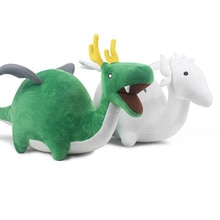 Miss Kobayashis Dragon Maid Dragons Plush Toy Green White Children Gift 28cm