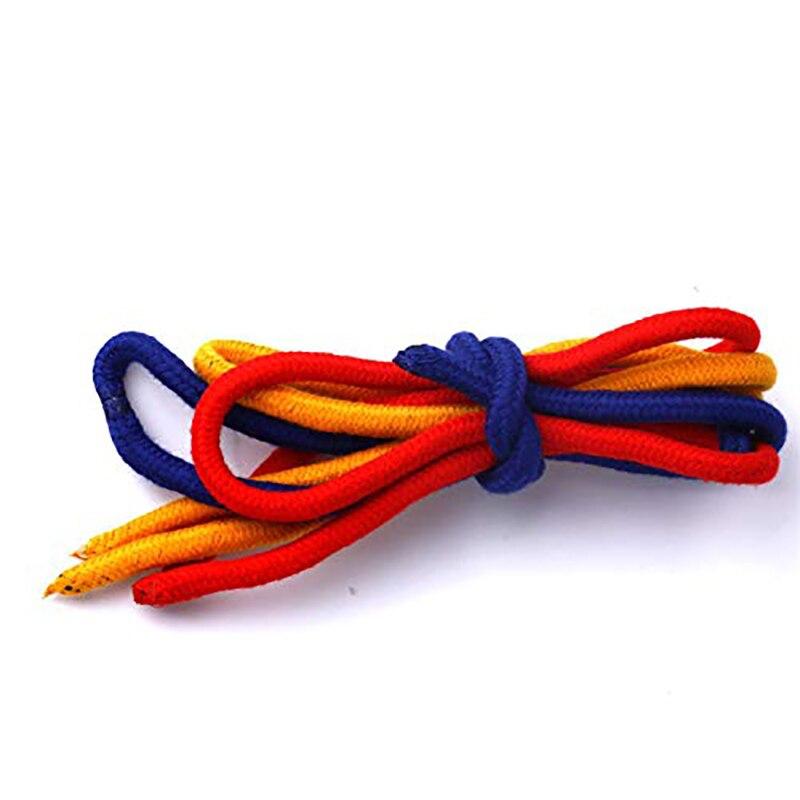 Tres cuerdas para unir Magic Trick Magic Close-up accesorios de rendimiento rojo y amarillo y azul cuerda Props herramienta de trucos de magia