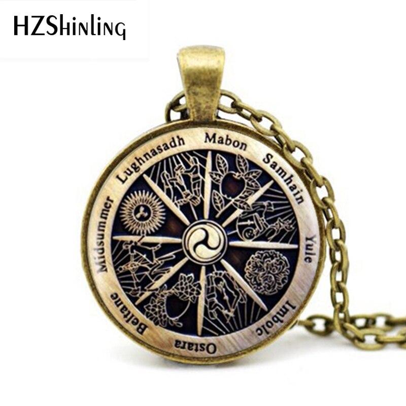 Hot Sale Zodiac Wicca Pendant Zodiac Wicca Charm Necklace Novel Necklace Women Jewelry Men Gift HZ1