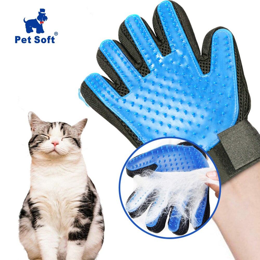 Pet macio silicone cão pet escova luva grooming escova pet grooming luva gato banho gato suprimentos de limpeza pet luva gato pentes