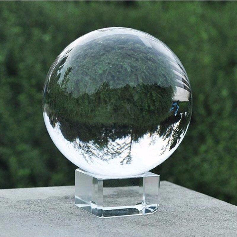 Чистый водный 60 мм Круглый K9 стеклянный Искусственный хрустальный шар для фотосъемки Декор прозрачный кварцевый целебный шар Сфера Прямая ...