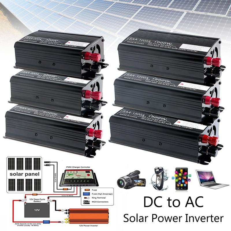 Inversor continuo Solar, 1000W, 12V, CC a 230V, AC, convertidor de onda sinusoidal modificada