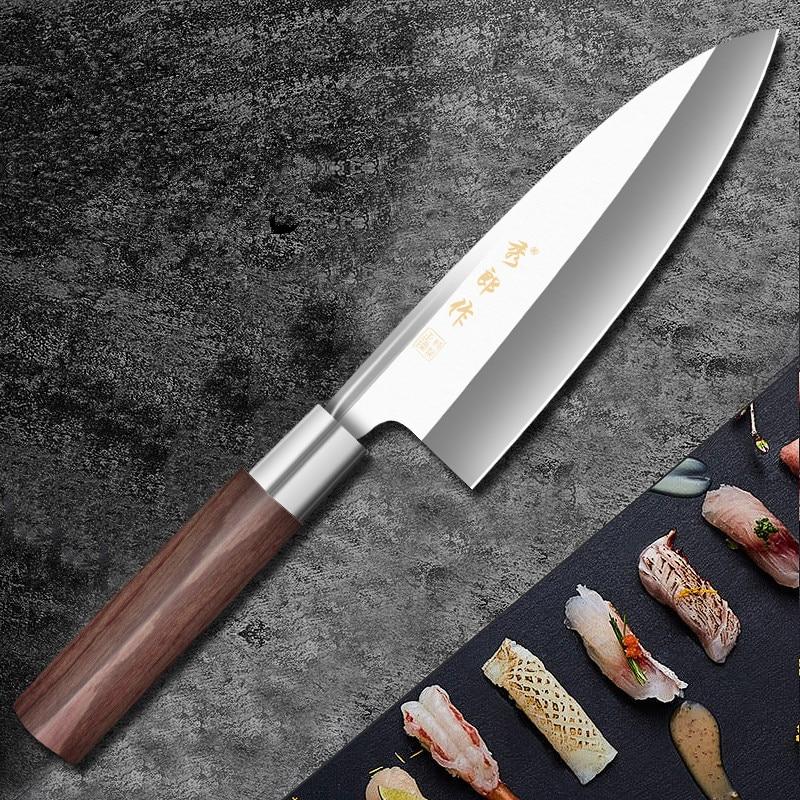 XLZ عالية الجودة الفولاذ المقاوم للصدأ المهنية الصفصاف ارتفع الشيف سكين السلمون العظام رئيس السكاكين حادة تقتل الخام الأسماك فيليه سكين