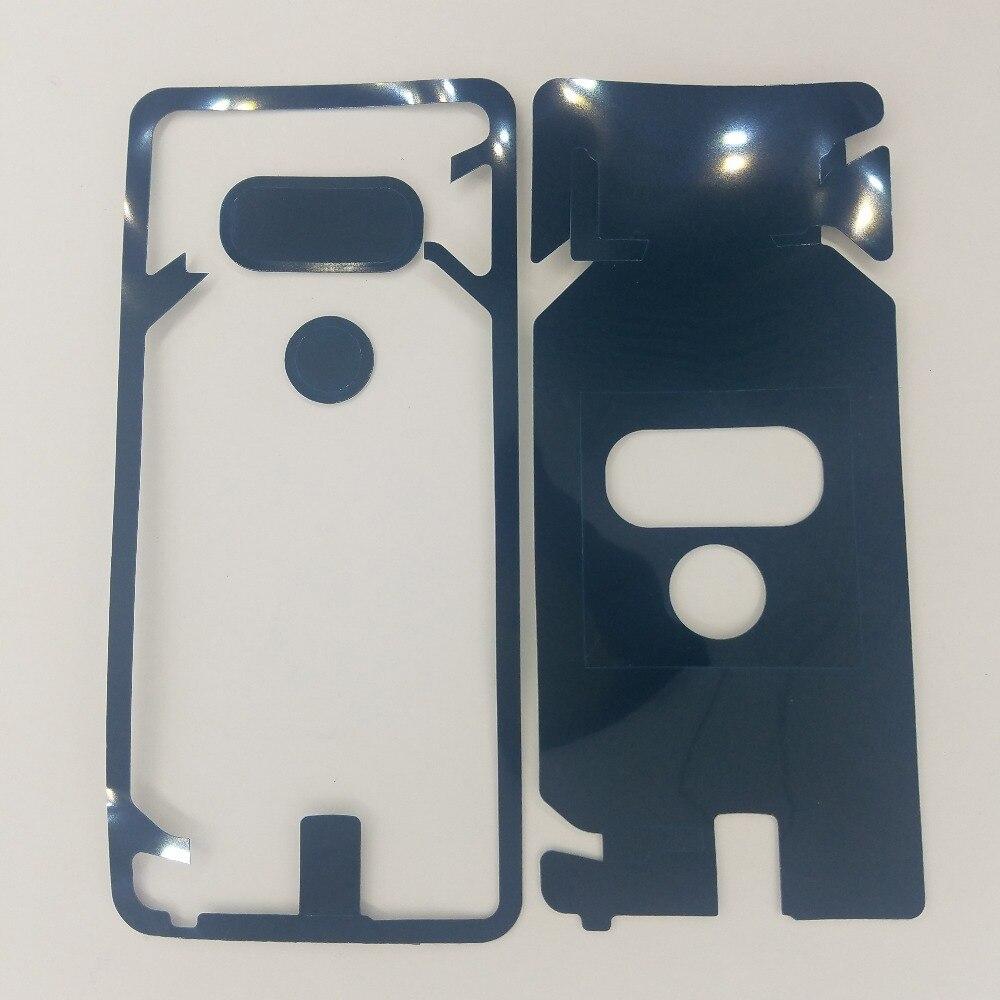 Для LG G6 G7 V30 телефон корпус дверная камера предварительно вырезанная клейкая Задняя стеклянная крышка панель наклейка клей