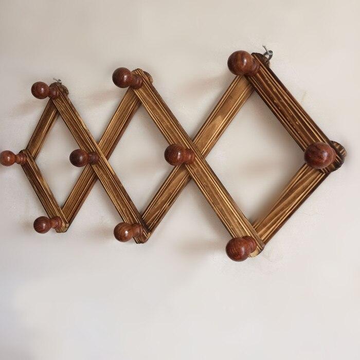 10 Gancho Flexível Retrátil Cabide Cremalheira do Banheiro Prateleira de Parede Decorativo Da Cozinha Organizador Cabide De Madeira Cabides Para Pendurar