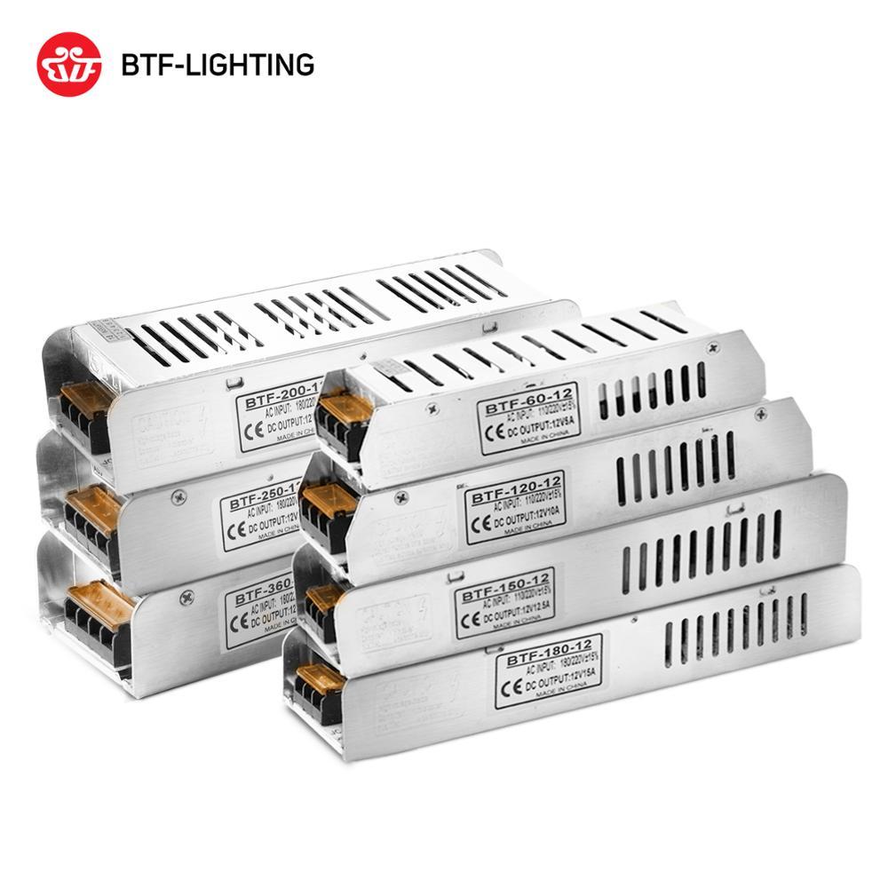 DC12V Led Voeding 5A 10A 12.5A 15A 16.5A 20A 30A Schakelaar Transformator WS2811 WS2815 Led Strip Licht Adapter 5050 3528 Lichten