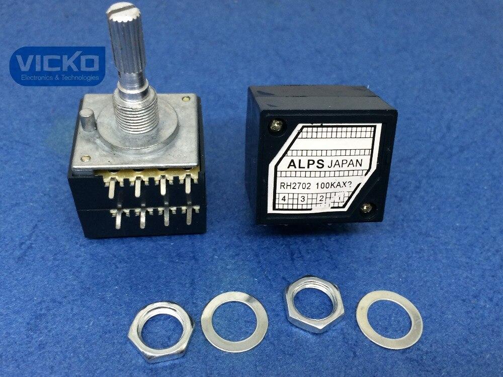 [Vk] Япония Alps 27-type RH2702 100KAX2 100K 100KA A100K 8PIN с потенциометром громкости (переключатель)