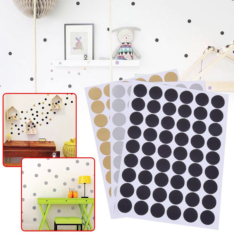 Adhesivo de pared de habitación de estilo nórdico con puntos redondos para niños, calcomanías de pared de salón para decoración del hogar, humedad, moho, calcomanía de pared bonita