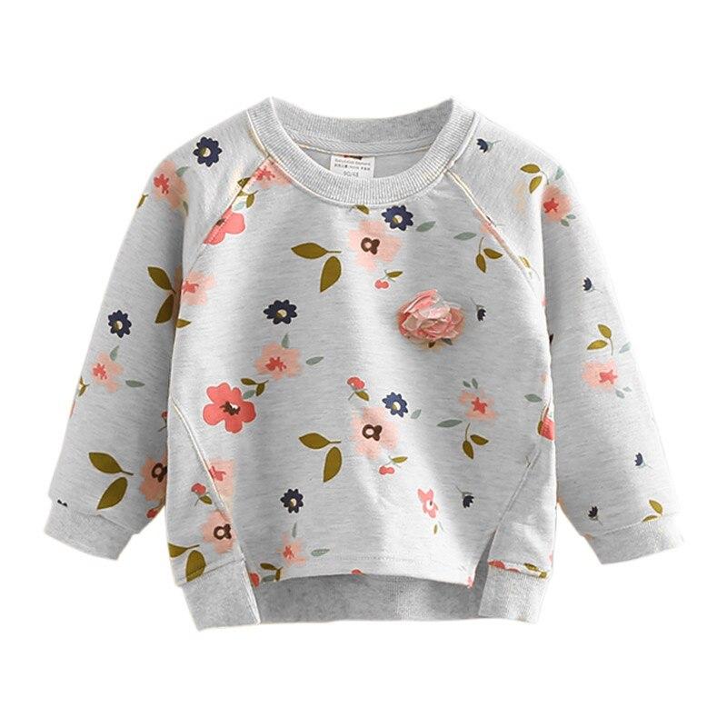 Sudaderas estampadas con capucha Floral para niñas sudadera Casual de manga larga para niños ropa de pulóver para niñas 2 3 4 5 6 T