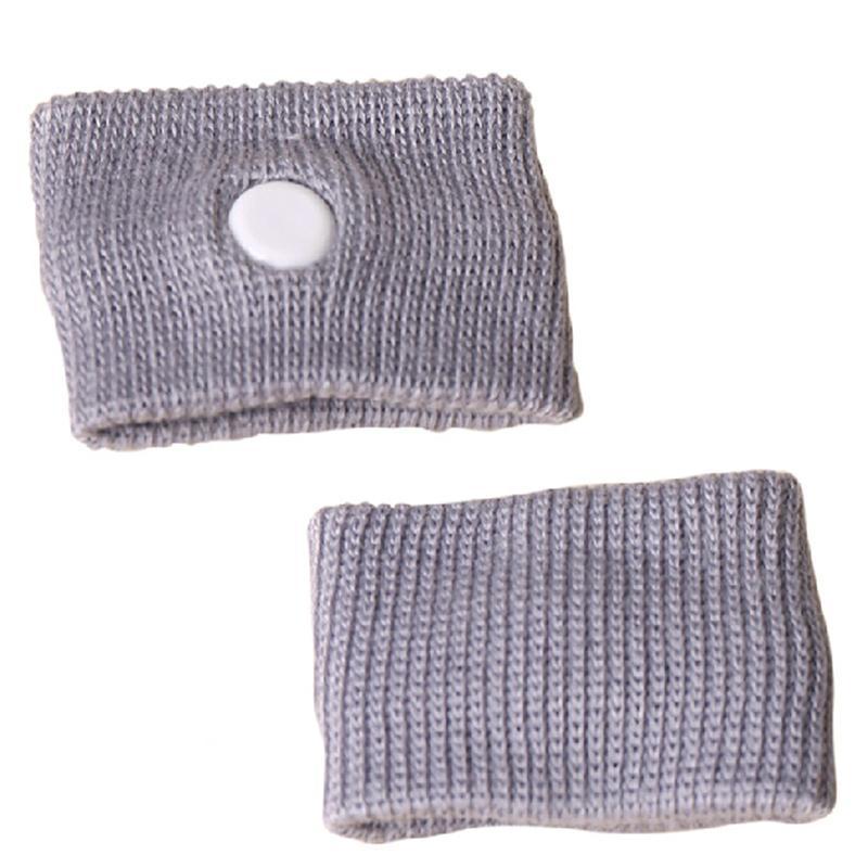 2Pcs Gray Color Anti Nausea Wristbands Car Anti Nausea Sickness Reusable Motion Sea Sick Travel Wrist Bands