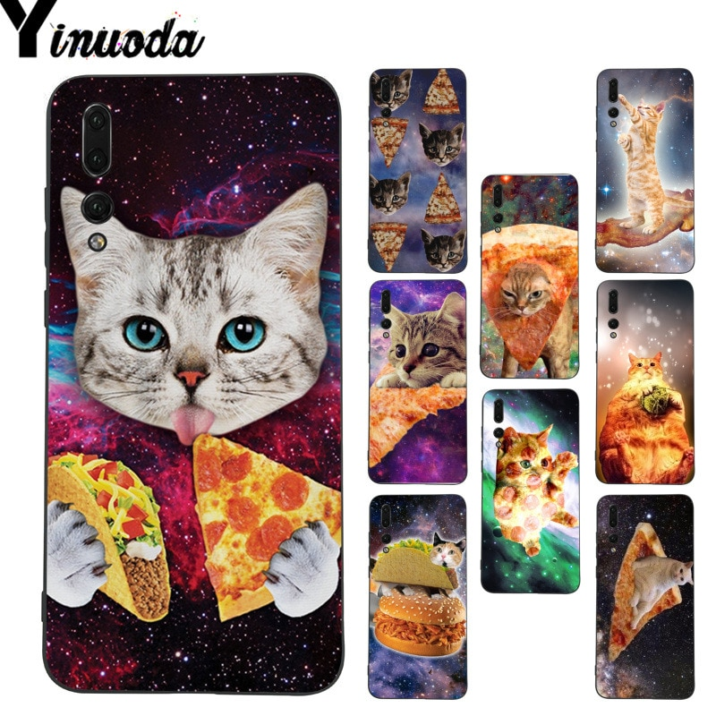 Yinuoda Pizza Cat en el espacio diseño único teléfono funda para Huawei P9 Lite P10 Plus Mate9 10 Mate10 Lite P20 Pro Honor10 View10