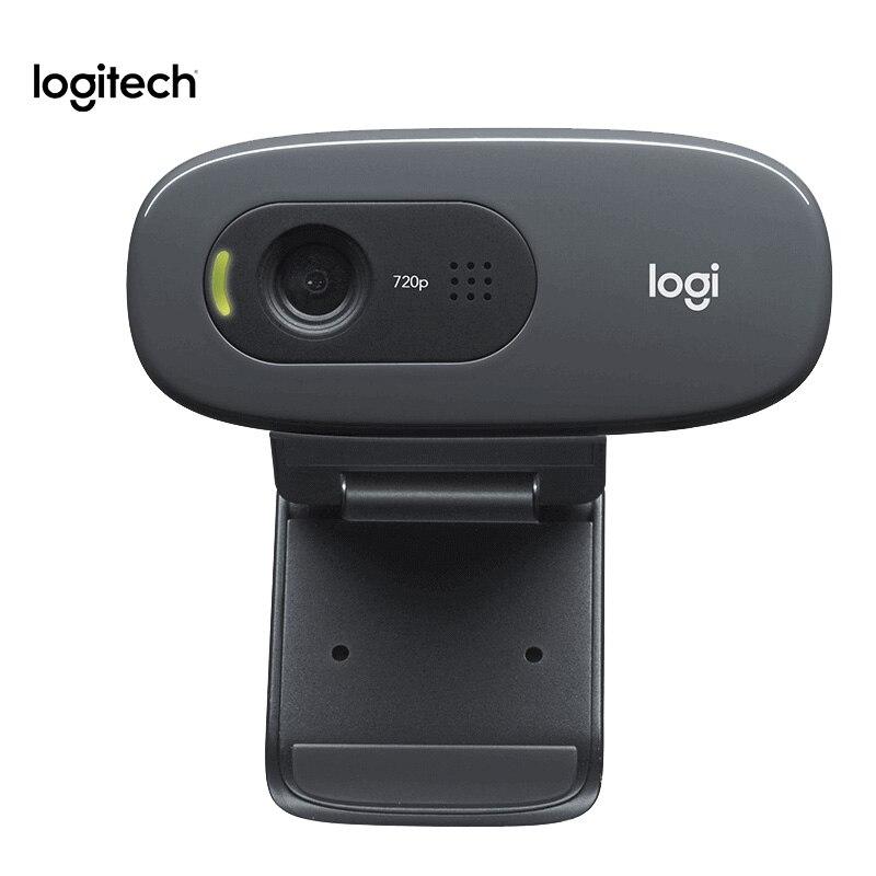 100% Original Logitech C270 Webcam HD Vid 720P Built-in Micphone USB2.0 Mini Computer Camera for PC Laptop