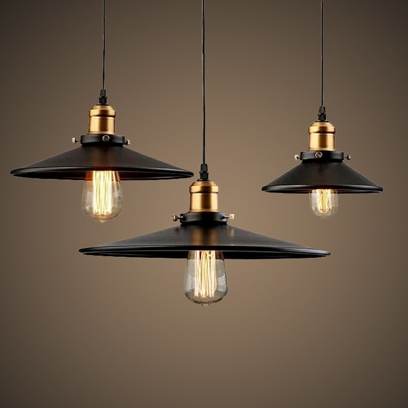 Vintage Industrial Pendant Light Retro Ceiling Lamp Nordic Iron Lampshade Loft Edison Lamp for Dining Room Lamp  LW415506