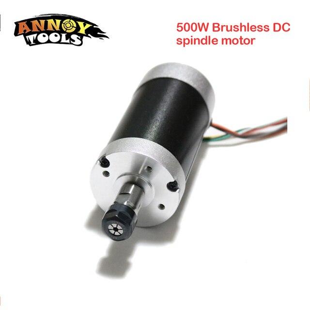 500W ER11-3.175mm 12000rpm Brushless DC spindle motor 24V 55mm diameter CNC Carving Milling Air cold Spindle Motor For Engraving