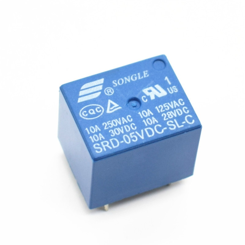 Реле питания PCB типа SRD-05VDC-SL-C 5V 10A 250VAC 5PIN T73