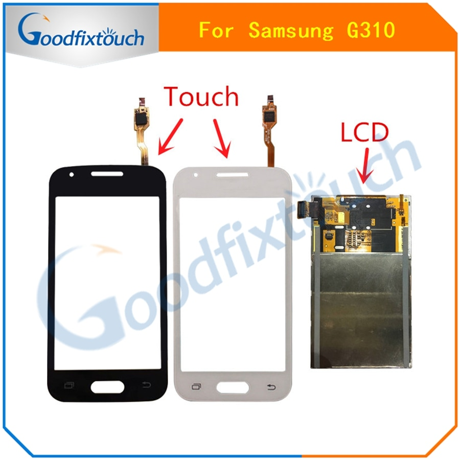 Para Samsung Galaxy Ace Style SM-G310 G310 Sensor de pantalla táctil negro/BLANCO + Módulo de panel de monitor de pantalla LCD