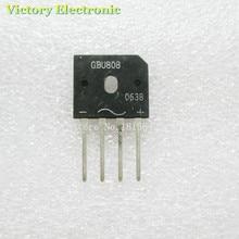 5 шт. GBU808 800V 8A мощный диодный мостовой выпрямитель