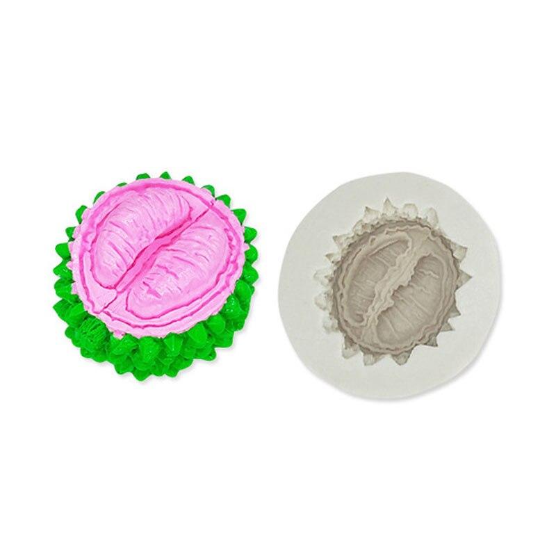 Moldes de Fondant en forma de Durian, moldes líquidos de silicona para jabón, molde para tarta DIY, decoración de Mousse, molde para galletas y chocolate, utensilios para hornear