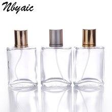 Nbyaic 1 Stks Retail 30 ml Ronde Parfum Spuitfles Spuitfles Herbruikbare Fles Transparant Glas Vernevelaar Gratis Verzending