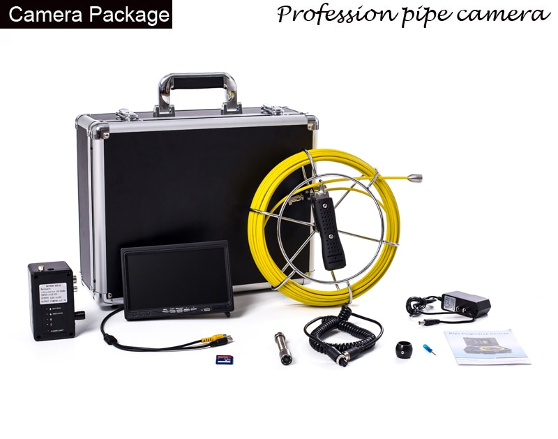 hotsell 9inch 23mm Pipe Sewer Inspection Video Camera Drain Pipe Sewer Inspection Camera System CCD600 tvl with 23mm cable