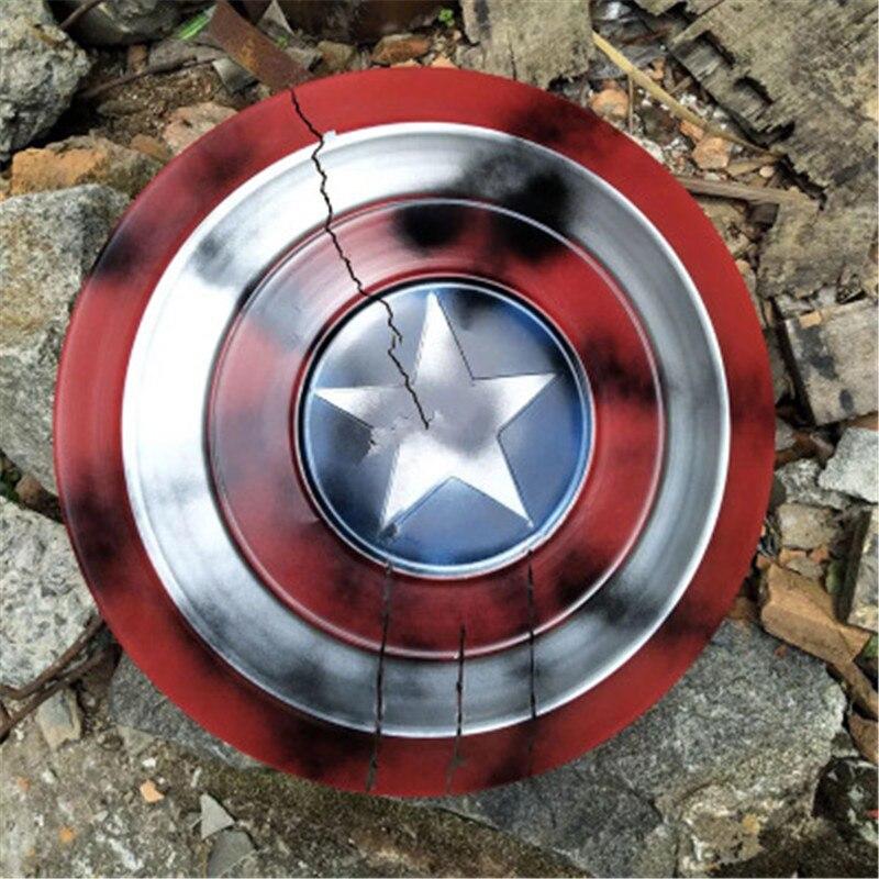 Los Vengadores final superhéroe Capitán América escudo Steve Rogers Cosplay Prop Metal escudo armas de Cosplay armadura hombre Cosplay Accesorios