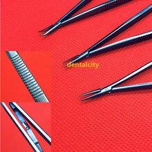 14cm titane porte-aiguille avec serrure ophtalmologie Instrument cosmétique broche pince pince outils de chirurgie