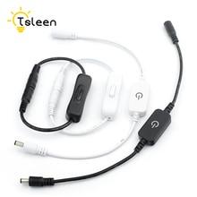 1Pc 5.5X2.1Mm Dc Power Switch Dc Plug Met Kabel Turn Op Off Led Strips Dc 12-24V Adapter Connector Inline Kabel 2 Types