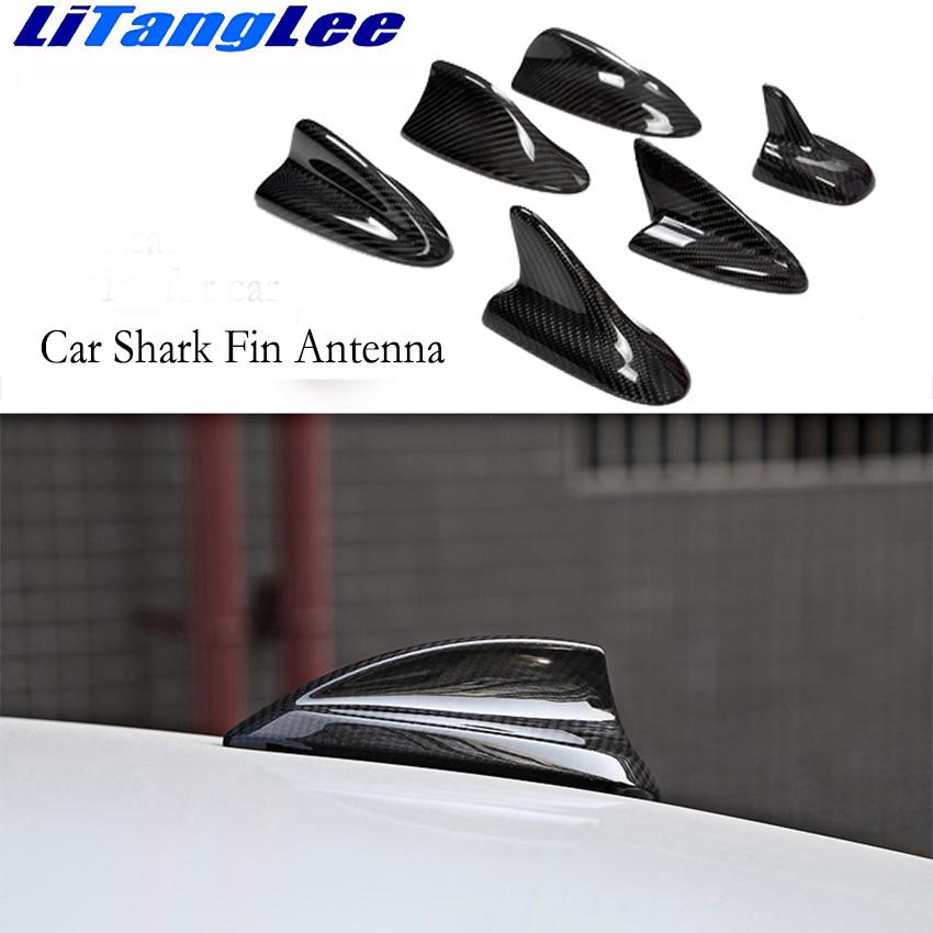 Litanglee estilo de coche para Mitsubishi ASX Lancer Outlander externos decoración carbono fibra antenas coche alerón con forma de aleta de tiburón
