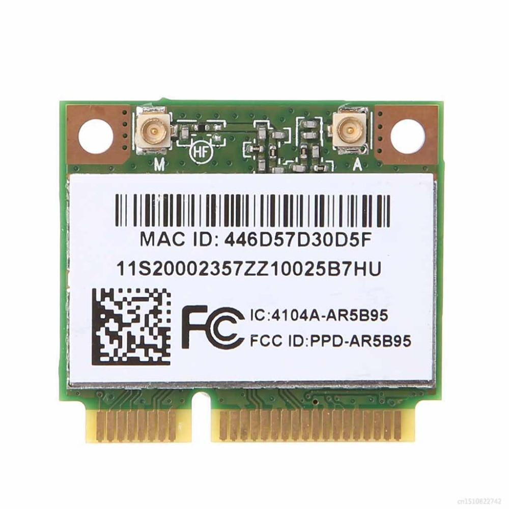 Tarjeta WiFi inalámbrica AR9285 AR5B95 802.11b/gn Half Mini pci-express para Lenovo