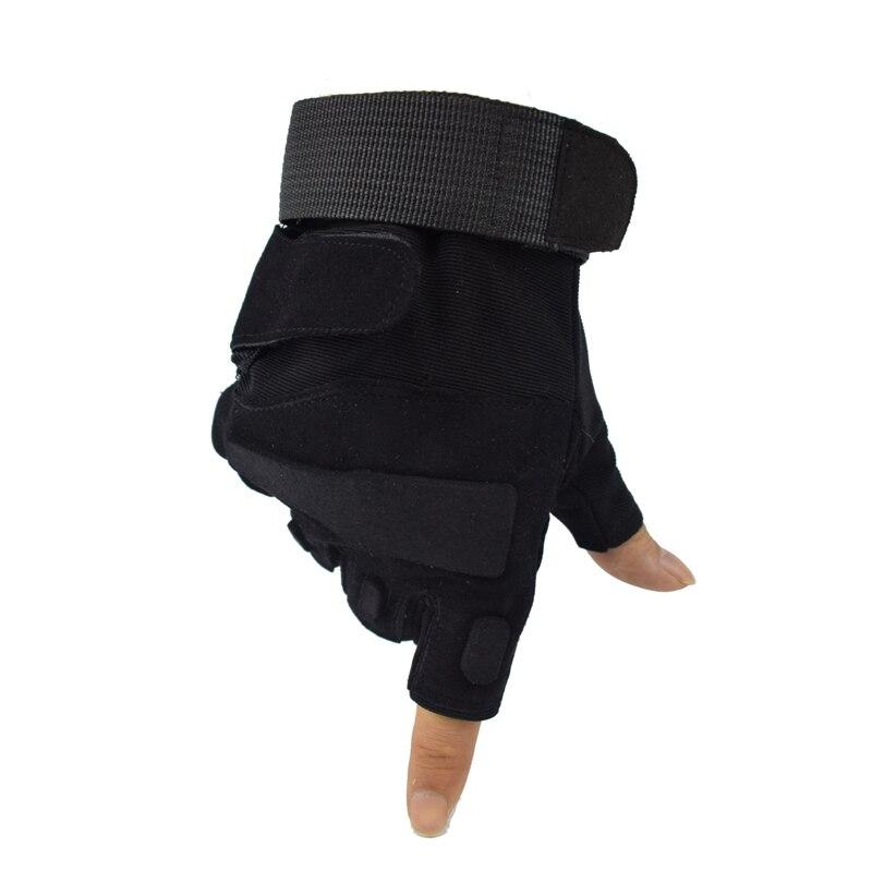 Guantes militares antideslizantes guantes deportivos de medio dedo tácticos caza Airsoft guantes sin dedos guantes de senderismo